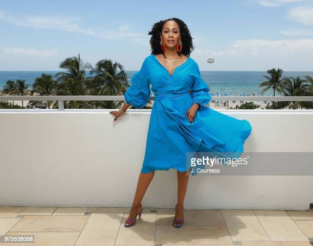 Actress Simone Missick poses for a portrait during the 22nd Annual American Black Film Festival at the Loews Miami Beach Hotel on June 15 2018 in...