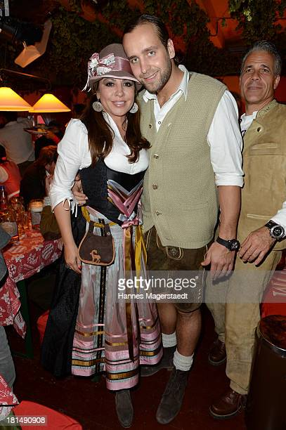 Actress Simone Thomalla and her boyfriend Silvio Heinevetter attend the Oktoberfest beer festival at Theresienwiese on September 21 2013 in Munich...