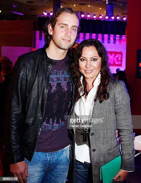Actress Simone Thomalla and her friend Silvio Heinevetter attend the 'OK Style Award 2010' at the british embassy on May 6 2010 in Berlin Germany