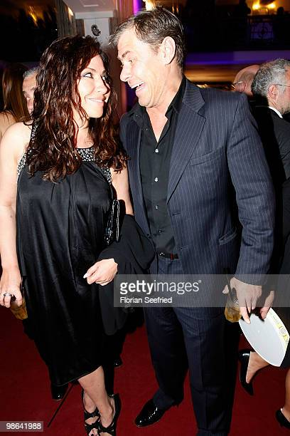 Actress Simone Thomalla and Sven Martinek attend the afterparty of the German film award Deutscher Filmpreis at Friedrichstadtpalast on April 23 2010...
