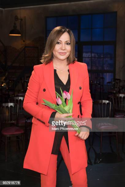 Actress Simone Thomalla attends the Koelner Treff TV Show at the WDR Studio on March 16 2018 in Cologne Germany
