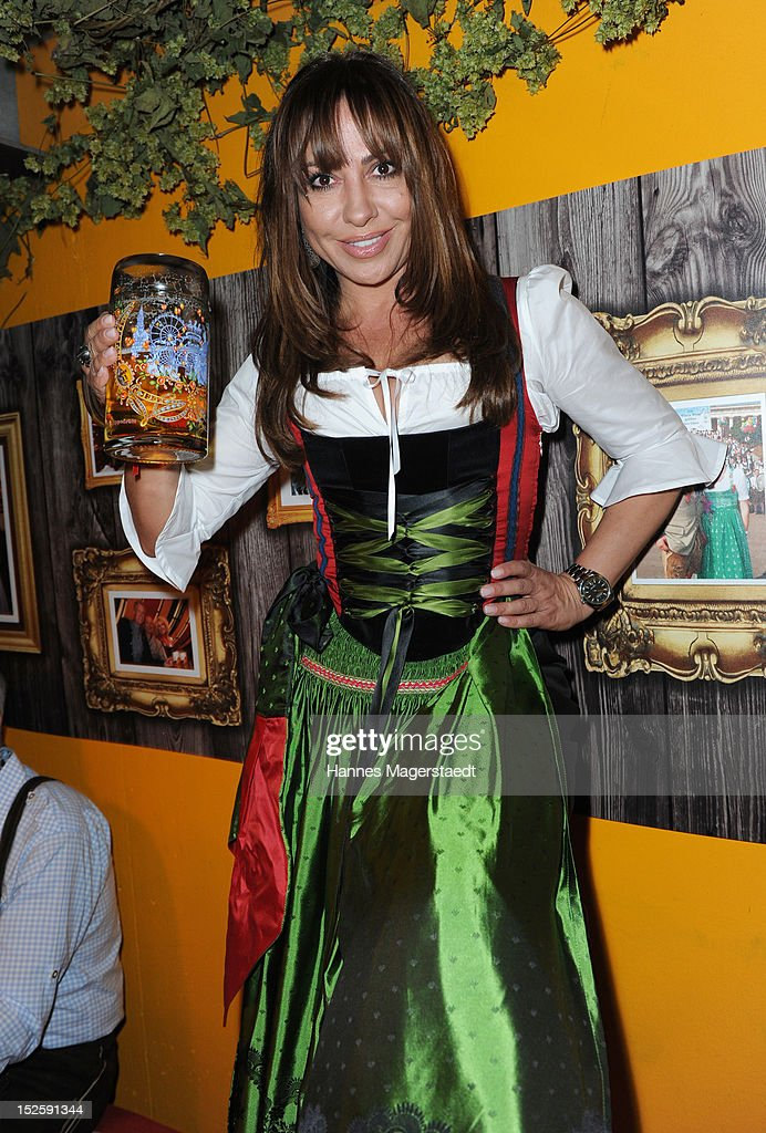 Actress Simone Thomalla attends the Oktoberfest beer festival at Hippodrom on September 22, 2012 in Munich, Germany.