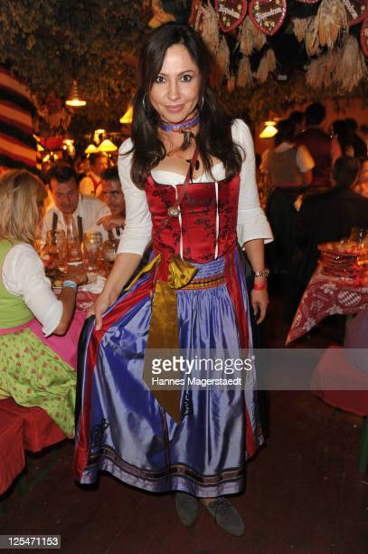 Actress Simone Thomalla attends the Oktoberfest beer festival at Hippodrom beer tent on September 17 2011 in Munich Germany