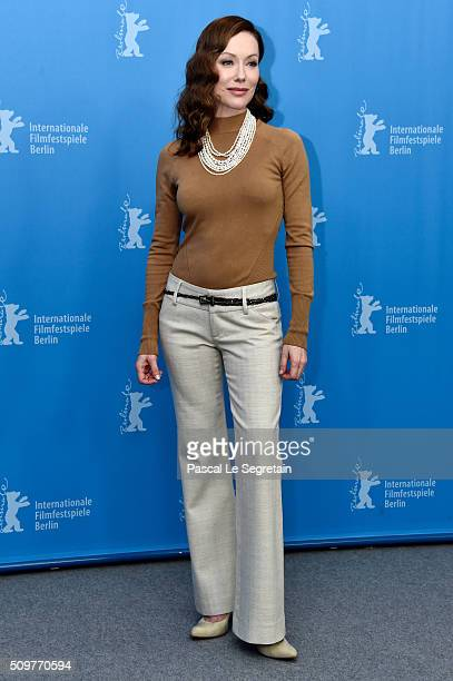 Actress SimoneElise Girard attends the 'Boris without Beatrice' photo call during the 66th Berlinale International Film Festival Berlin at Grand...