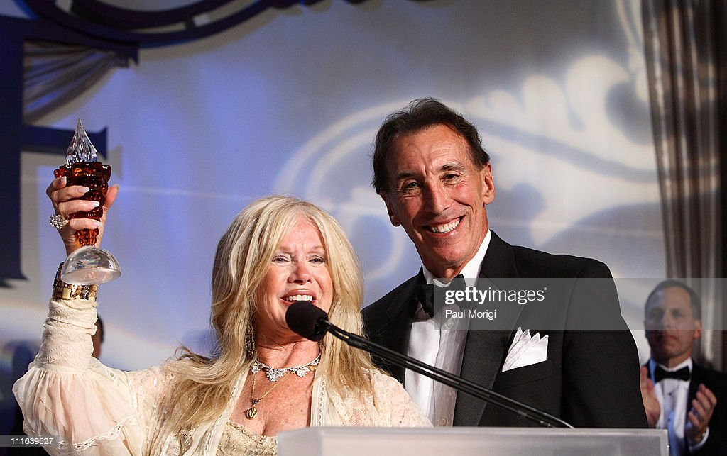 Actress, singer, and entrepreneur Connie Stevens and NIAF Chairman Dr. A. Kenneth Ciongoli pose after she received a NIAF Special Achievement Award for Humanitarian Services at the NIAF 32nd Anniversary Awards Gala at the Hilton Washington & Towers on October 13, 2007, in Washington, DC.