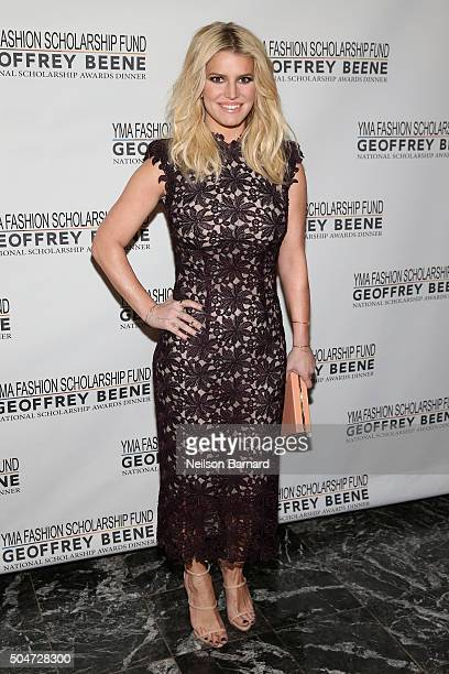 Actress, singer and fashion entrepreneur, Jessica Simpson attends the YMA Fashion Scholarship Fund Geoffrey Beene National Scholarship Awards Gala at...