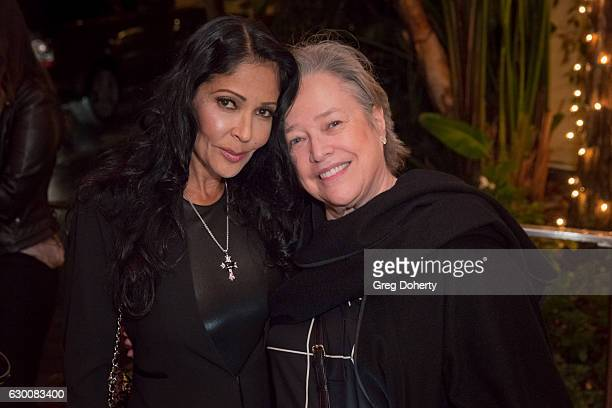 Actress singer and former model Apollonia and Actress Kathy Bates attend the Timothy White Exhibition CoHosted By Billy Bob Thornton at Morrison...