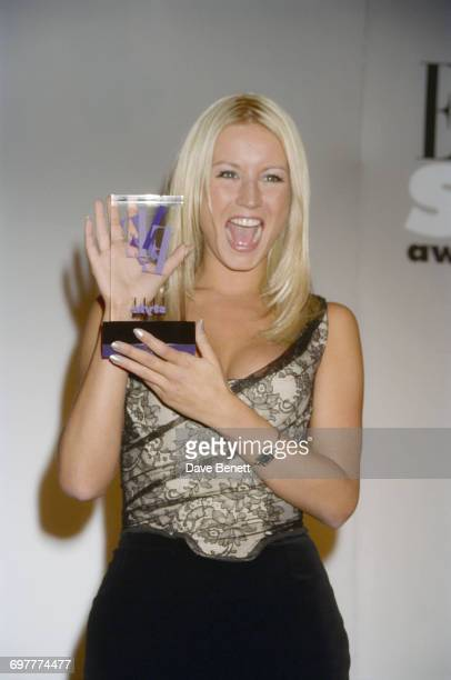 Actress singer and presenter Denise Van Outen wins at the Elle Magazine Style Awards at Sound Republic in Leicester Square London 17th September 1998
