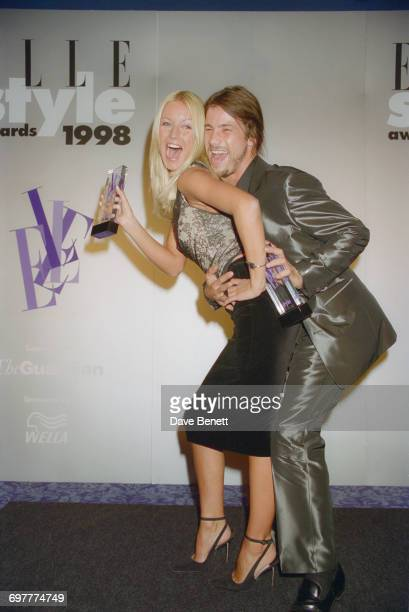 Actress singer and presenter Denise Van Outen with her partner Jamiroquai lead singer Jay Kay at the Elle Magazine Style Awards at Sound Republic in...