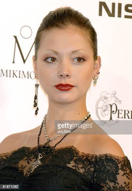 Actress/ Singer Anna Tsuchiya attends Vogue Nippon Women of the Year 2007 awarding ceremony at Grand Hyatt Hotel on November 26 2007 in Tokyo Japan