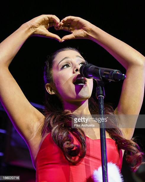 Actress / Singer Ariana Grande performs at the Citadel Outlets 11th annual tree lighting event at Citadel Outlets on November 10 2012 in City of...