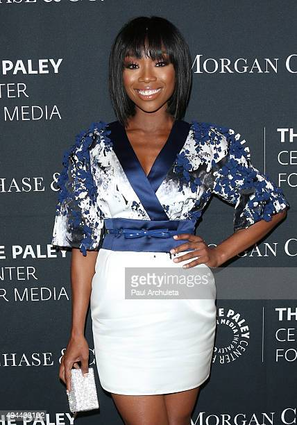 Actress / Singer Brandy Norwood attends the Paley Center For Media's Tribute To AfricanAmerican Achievements In Television at the Beverly Wilshire...