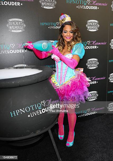 Actress / Singer Christina Milian attends the launch of her Halloween cocktail recipe at Beachers Madhouse at the Roosevelt Hotel on October 26 2012...