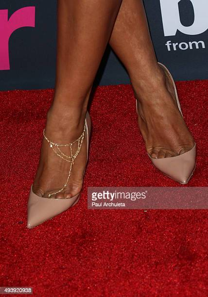 Actress / Singer Christina Milian Shoe Detail / Jewelry Detail attends Star Magazine's Scene Stealers party at The W Hollywood on October 22 2015 in...