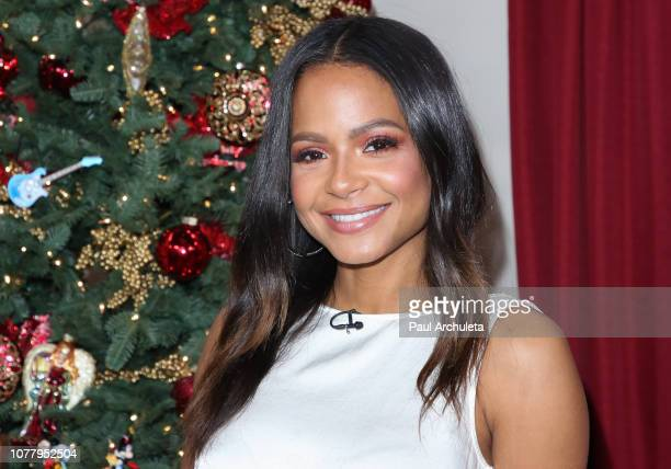 Actress / Singer Christina Milian visits Hallmark's Home Family at Universal Studios Hollywood on December 05 2018 in Universal City California