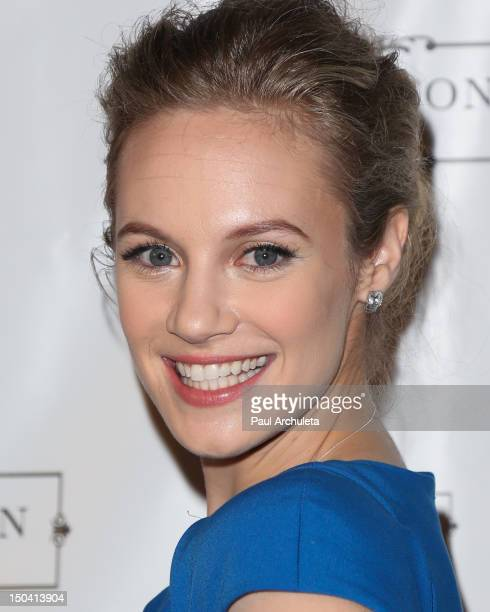Actress / Singer Danielle Savre attends the premiere party for her new music video at The Lexington Social House on August 16 2012 in Hollywood...