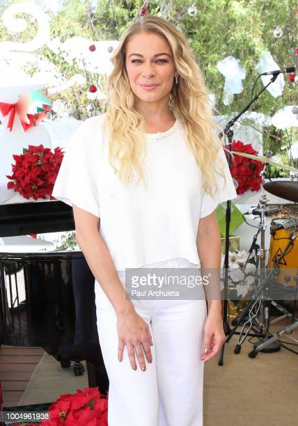 Actress / Singer LeAnn Rimes visits Hallmark's Home Family celebrating 'Christmas In July' at Universal Studios Hollywood on July 24 2018 in...
