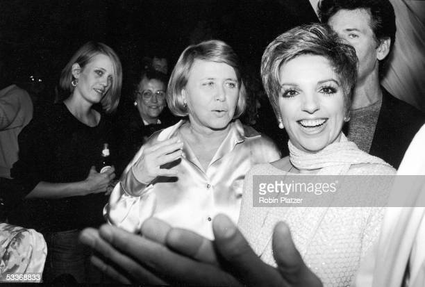 Actress singer Liza Minnelli and columnist Liz Smith at the Palladium