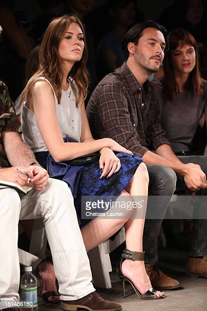 Actress / singer Mandy Moore actor Jack Huston and model Shannan Click attend Billy Reid's spring 2013 fashion show during MercedesBenz Fashion Week...
