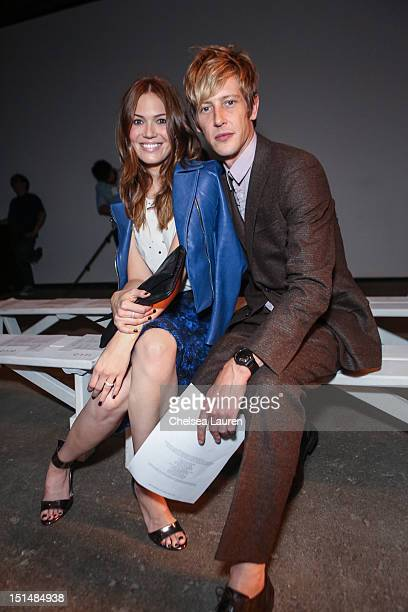 Actress / singer Mandy Moore and actor Gabriel Mann attend Billy Reid's spring 2013 fashion show during MercedesBenz Fashion Week at Eyebeam on...
