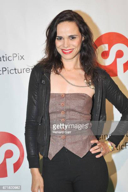 Actress Singer Melissa Mars attends the Launch Of Cinematic Pictures Publishing's 'Men Of Science Fiction' at Cinematic Pictures Gallery on April 22...
