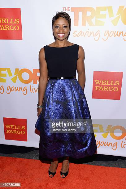 Actress singer Montego Glover attends the Trevor Project's 2014 TrevorLIVE NY Event at the Marriott Marquis Hotel on June 16 2014 in New York City