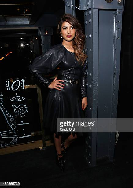 Actress/ singer Priyanka Chopra attends the Paper Magazine Party celebrating Guess Spokesmodel Priyanka Chopra's new single at La Cenita on January...
