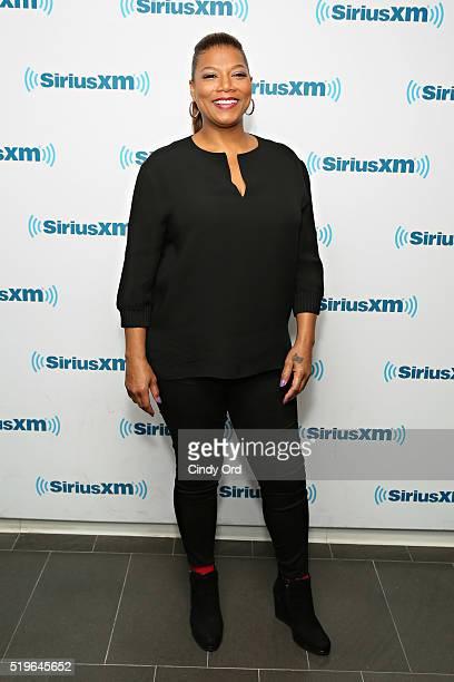Actress/ singer Queen Latifah visits the SiriusXM Studio on April 7 2016 in New York City