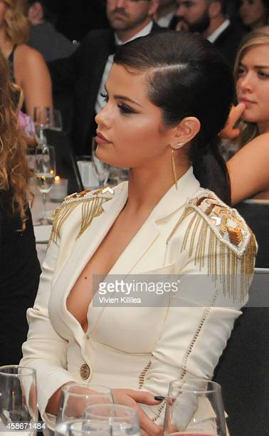 Actress / singer Selena Gomez attends the Unlikely Heroes' 3rd Annual Awards Dinner And Gala at Sofitel Hotel on November 8 2014 in Los Angeles...