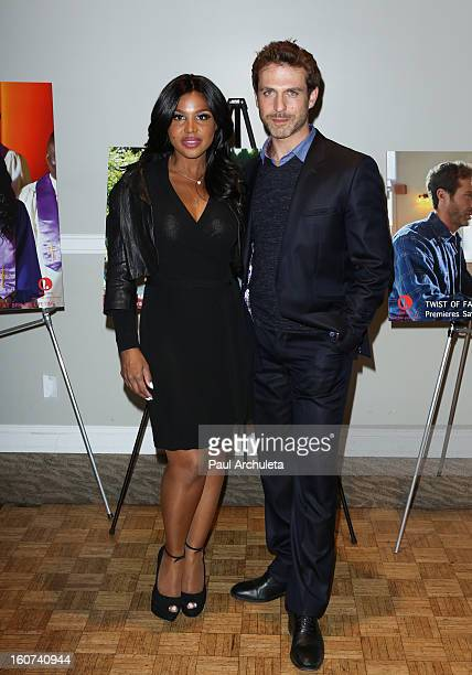 Actress / Singer Toni Braxton and Actor David Julian Hirsh attend the Twist Of Faith Los Angeles premiere at the Stephen S Wise temple on February 4...