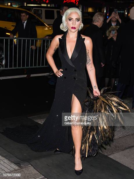 Actress singersongwriter Lady Gaga is seen arriving to The National Board of Review Annual Awards Gala at Cipriani 42nd Street on January 8 2019 in...
