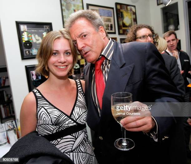 Actress Siri Baruc and Actor Armand Desante at the Paradigm Cocktail Party for Tribeca Film Festival at the Paradigm Offices on April 29 2008 in New...