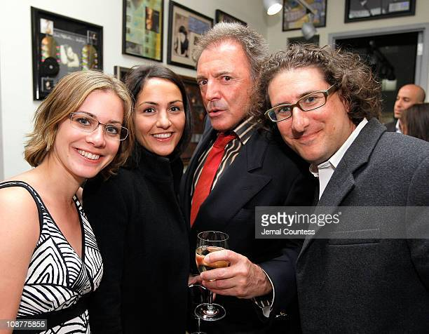 Actress Siri Baruc Natasha Haidous Actor Armand Desante and Larry Hummel at the Paradigm Cocktail Party for Tribeca Film Festival at the Paradigm...