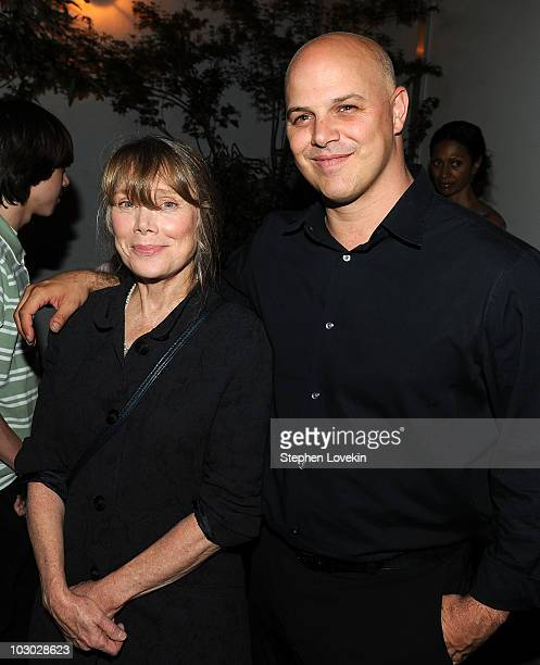 Actress Sissy Spacek and executive producer Joey Rappa attend The Cinema Society Sony Alpha Nex screening after party for Get Low at the Soho Grand...