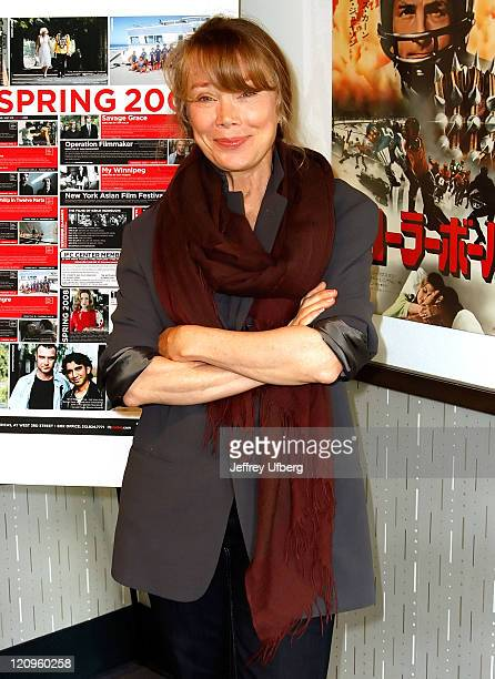 Actress Sissy Spacek arrives at IFC Center for a special New York Screening of Badlands on April 26 2008 in New York City