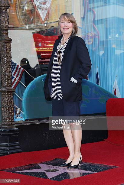 Actress Sissy Spacek attends the ceremony honoring her with a Star on The Hollywood Walk of Fame held on August 1 2011 in Hollywood California