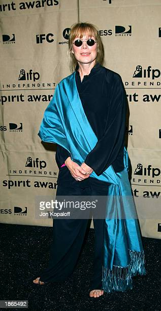 Actress Sissy Spacek poses backstage during the 2003 IFP Independent Spirit Awards on March 22 2003 in Santa Monica California