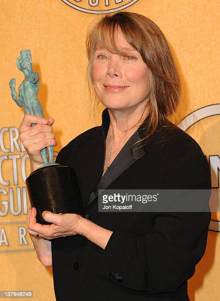 Actress Sissy Spacek poses in the press room at 18th Annual Screen Actors Guild Awards held at The Shrine Auditorium on January 29 2012 in Los...