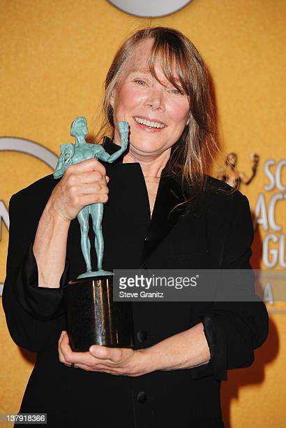 Actress Sissy Spacek poses in the press room at the 18th Annual Screen Actors Guild Awards held at The Shrine Auditorium on January 29 2012 in Los...