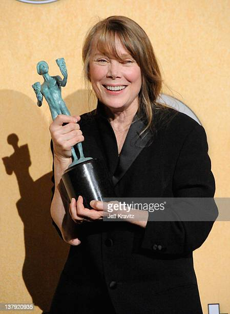 Actress Sissy Spacek poses in the press room during the 18th Annual Screen Actors Guild Awards at The Shrine Auditorium on January 29 2012 in Los...