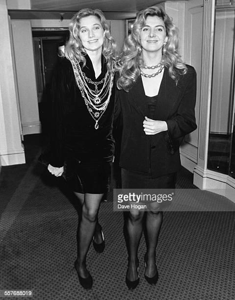 Actress sisters Natasha and Joely Richardson at the Laurence Olivier Awards London January 31st 1989