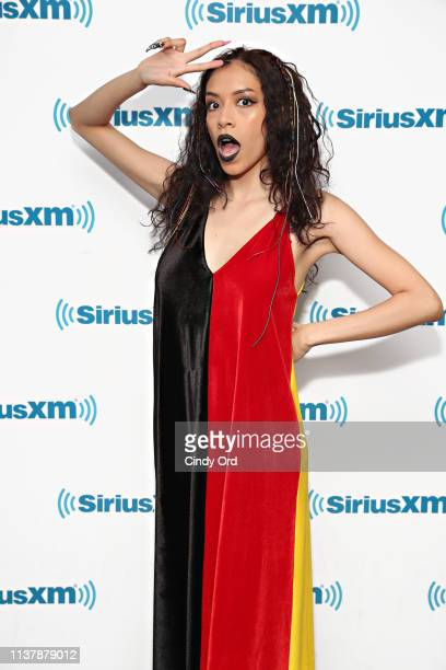 Actress Sivan Alyra Rose visits the SiriusXM Studios on April 18, 2019 in New York City.