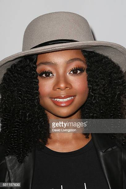 Actress Skai Jackson arrives at NYLON and BCBGeneration's Annual Young Hollywood May Issue Event at HYDE Sunset Kitchen Cocktails on May 12 2016 in...