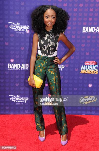 Actress Skai Jackson arrives at the 2016 Radio Disney Music Awards at Microsoft Theater on April 30 2016 in Los Angeles California
