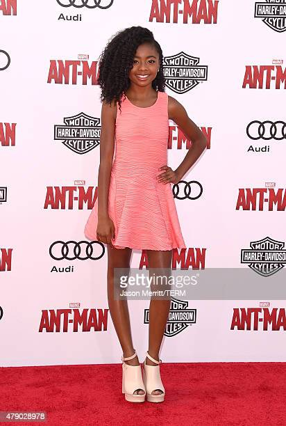 Actress Skai Jackson arrives at the Los Angeles Premiere of Marvel Studios 'AntMan' at Dolby Theatre on June 29 2015 in Hollywood California