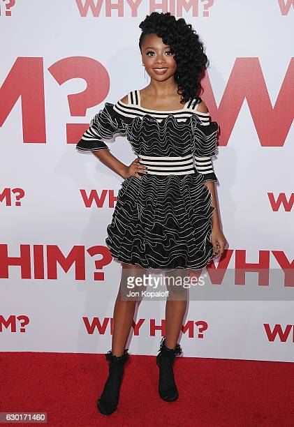 Actress Skai Jackson arrives at the Los Angeles Premiere Why Him at Regency Bruin Theater on December 17 2016 in Westwood California
