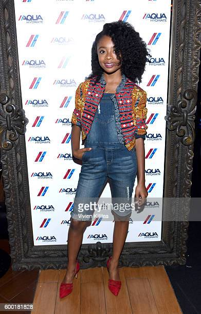 Actress Skai Jackson attends a private event at Hyde Staples Center hosted by AQUAhydrate for the Drake and Future concert on September 7 2016 in Los...
