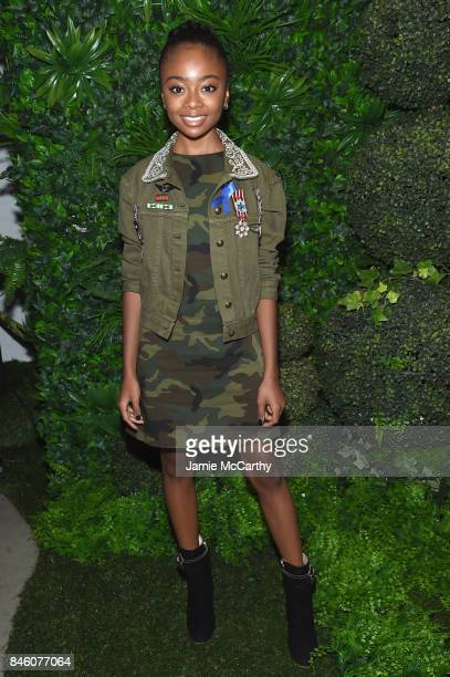 Actress Skai Jackson attends Alice Olivia By Stacey Bendet fashion show during September 2017 New York Fashion Week The Shows at Gallery 2 Skylight...