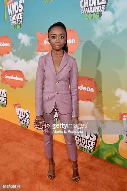 Actress Skai Jackson attends Nickelodeon's 2016 Kids' Choice Awards at The Forum on March 12 2016 in Inglewood California