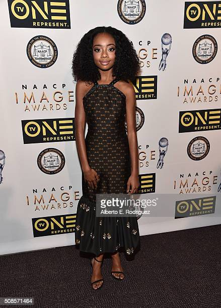 Actress Skai Jackson attends the 47th NAACP Image Awards NonTelevised Awards Ceremony on February 4 2016 in Pasadena California